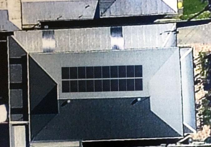 solar panels layout